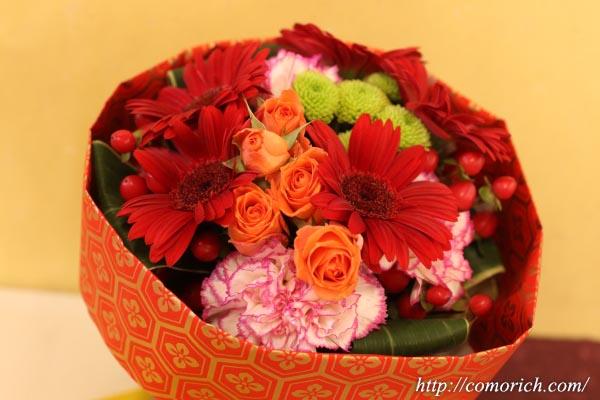 そのまま飾れるブーケ「花あそび」