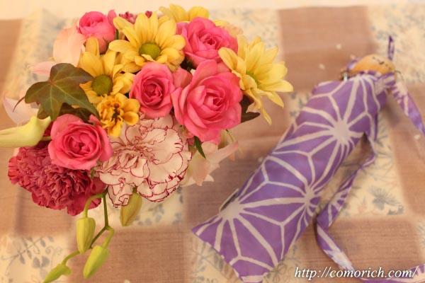 【日比谷花壇】【敬老の日】nugoo「軽量折畳傘」とアレンジメントのセット