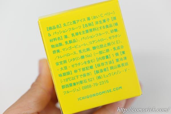 大丸松坂屋 苺のお店 メゾン・ド・フルージュ 苺専門店の丸ごと苺アイス