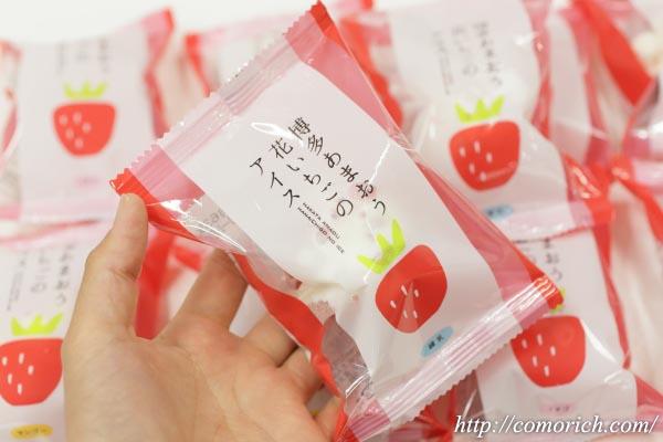 大丸松坂屋 花いちごのバラエティアイス(博多あまおう)