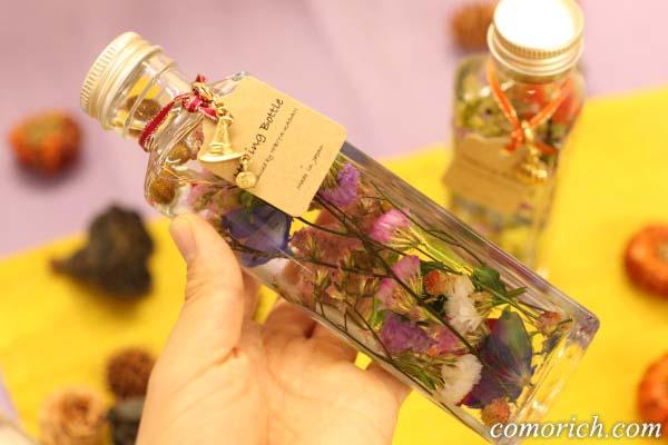 日比谷花壇のハロウィンハーバリウム「Halloween Purple」魔女ハットチャーム付き