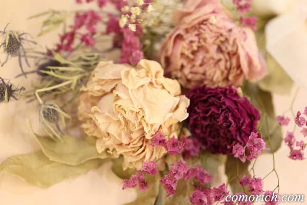【日比谷花壇】飾って楽しむ ドライスワッグ「ピオニー」