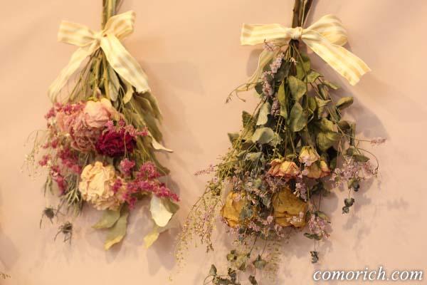 【日比谷花壇】飾って楽しむ ドライフラワースワッグ