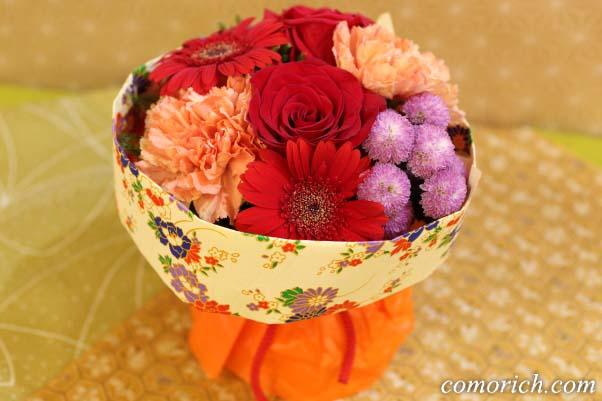 そのまま飾れるブーケ「花結び」