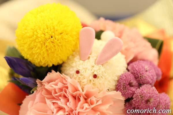 【日比谷花壇】そのまま飾れるブーケ「お月様とうさぎ」