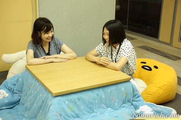シナモンこたつ布団×サンリオクッション(特にぐでたま)がかわいい!