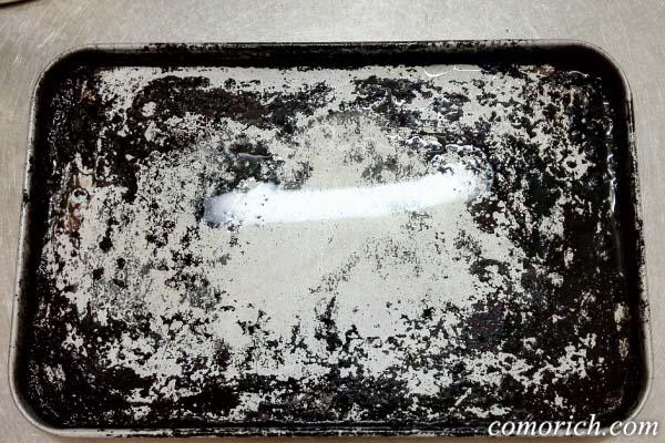強力洗剤ブレイカーエックスをオーブントースターの受け皿のコゲに使ってみた!