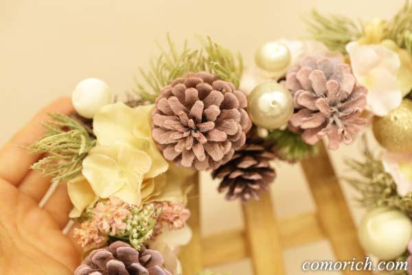 【日比谷花壇】クリスマス アーティフィシャルスクエアリース「テレッツァ」