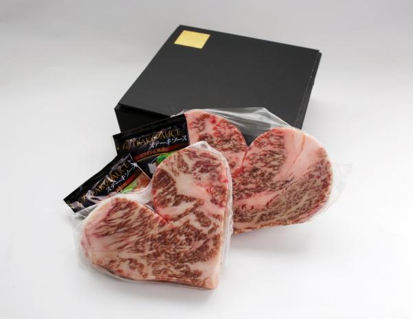 バレンタインの贈り物 国産黒毛和牛ハートステーキ(ロース)