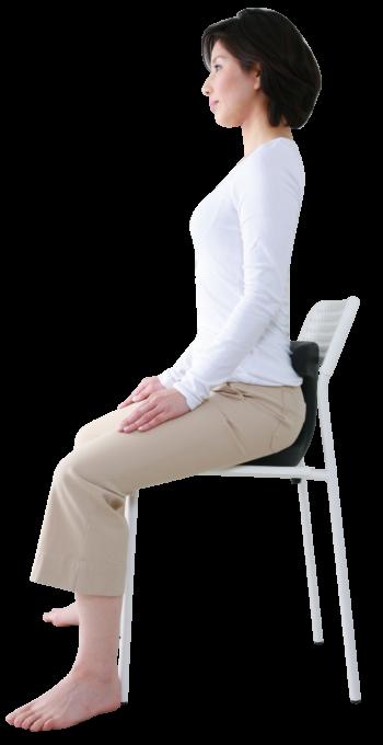 今ある椅子にアーユルメディカルシートを置いて使う