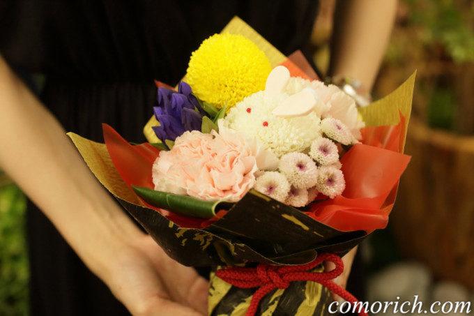 【日比谷花壇】敬老の日 そのまま飾れるブーケ「お月様とうさぎ」