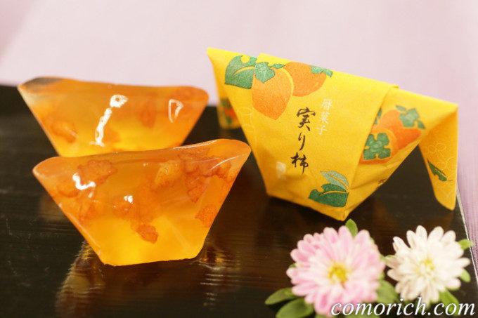【日比谷花壇】敬老の日 日本橋屋長兵衛「暦菓子 実り柿」とそのまま飾れるブーケのセット