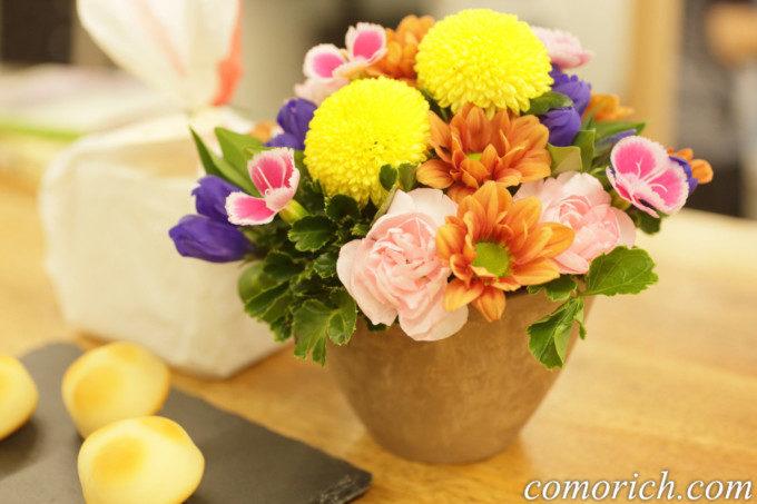 【日比谷花壇】敬老の日 菓匠清閑院「秋夜のうさぎ」とアレンジメントのセット