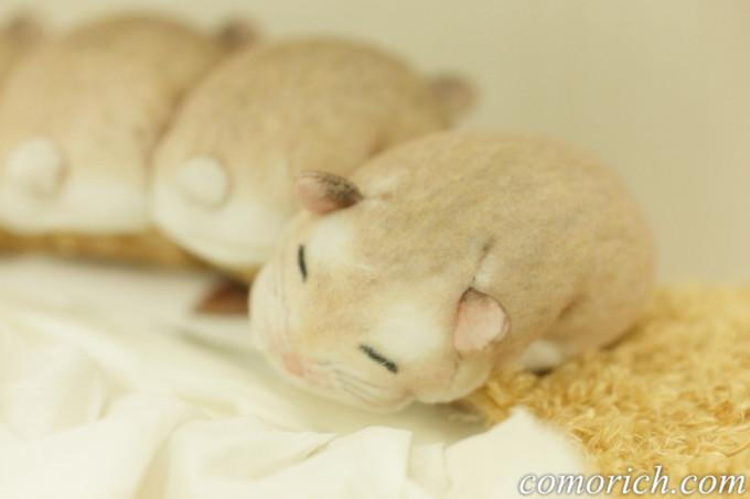フェリシモ YOU+MORE! ぎゅうぎゅう集まって眠る ハムスターのボックスティッシュカバー