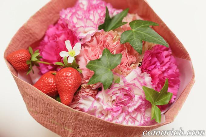 【日比谷花壇】母の日 そのまま飾れるブーケ「ストロベリーピンク」