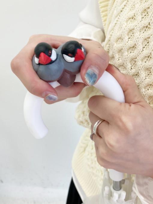 フェリシモ  小鳥部 いっしょにお出かけ もっちり文鳥の傘タグの会