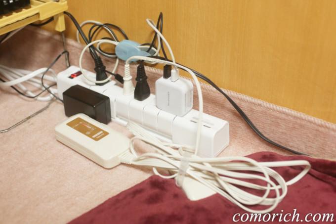 電源タップは回転式差込口が便利だった!サンワの700-TAP020を口コミ