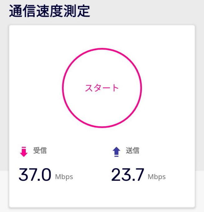 楽天モバイルの通信速度 江東区